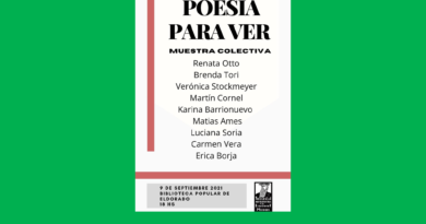 """""""Poesía para ver"""", una muestra para disfrutar en la ciudad de Eldorado"""